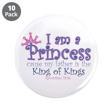 "I am a Princess 3.5"" Button (10 pack)"