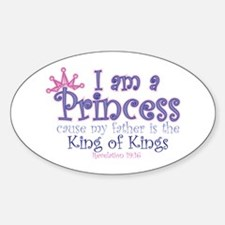I am a Princess Oval Decal