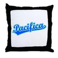 Retro Pacifica (Blue) Throw Pillow