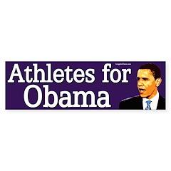 Athletes for Obama bumper sticker