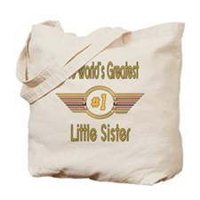 Number 1 Little Sister Tote Bag