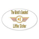 Number 1 Little Sister Oval Sticker (10 pk)