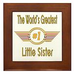 Number 1 Little Sister Framed Tile