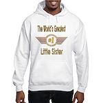Number 1 Little Sister Hooded Sweatshirt