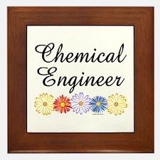 Chemical Engineer Asters Framed Tile