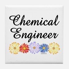 Chemical Engineer Asters Tile Coaster