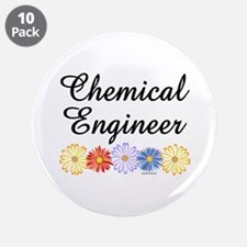 """Chemical Engineer Asters 3.5"""" Button (10 pack)"""