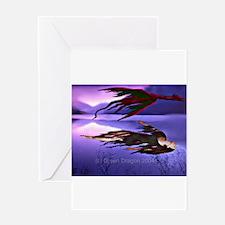 Cute Dragon flys Greeting Card
