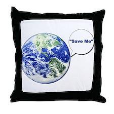 Cute Global warming Throw Pillow
