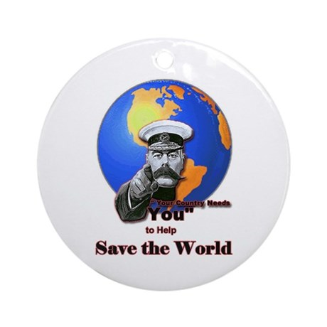 Save The World Ornament (Round)