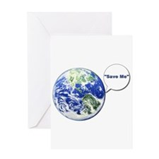 Save The World Greeting Card