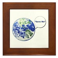 Save The World Framed Tile