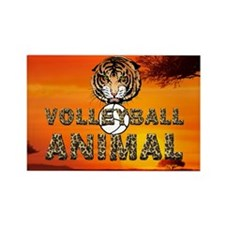 Volleyball Animal Rectangle Magnet