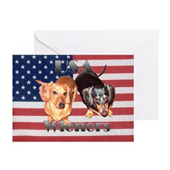 USA Wieners Greeting Cards (Pk of 10)