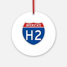 Interstate H2, USA Ornament (Round)