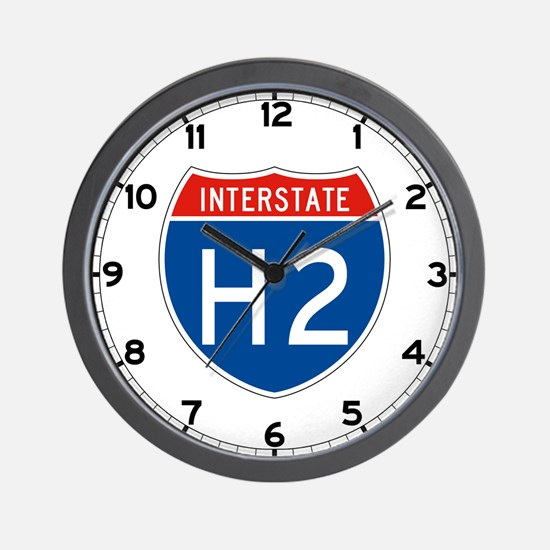 Interstate H2, USA Wall Clock