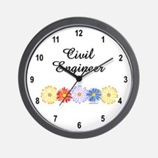 Civil Engineer Asters Wall Clock