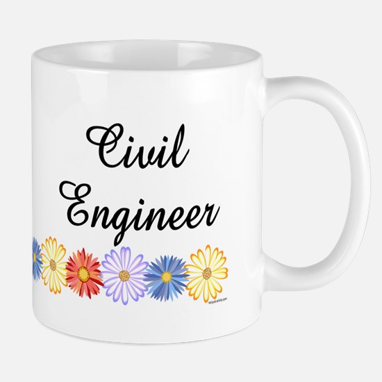 Civil Engineer Asters Mug