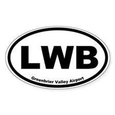 Greenbrier Valley Airport Oval Decal