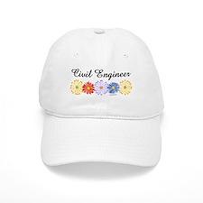 Civil Engineer Asters Baseball Cap