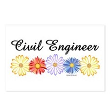 Civil Engineer Asters Postcards (Package of 8)