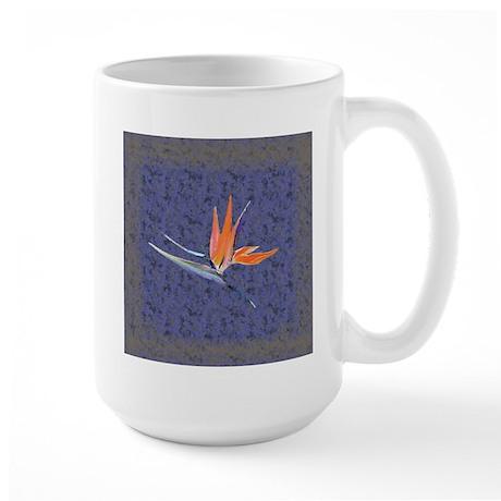 Blue Bird of Paradise Large Mug
