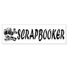 """SCRAPBOOKER"" with photography supplies Bumper Sticker"
