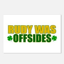 Rudy was Offsides (2) Postcards (Package of 8)
