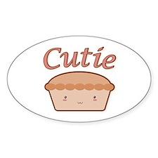 Cutie Pie Oval Decal