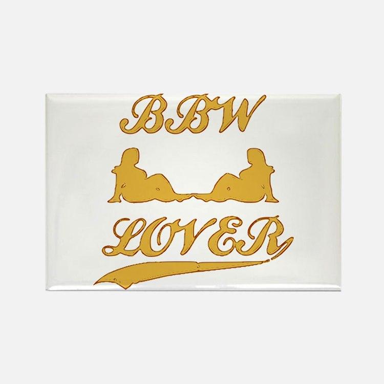 BBW LOVER (Big Beautiful Woman) Rectangle Magnet