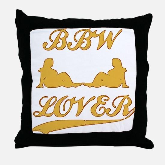 BBW LOVER (Big Beautiful Woman) Throw Pillow