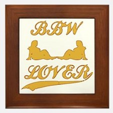BBW LOVER (Big Beautiful Woman) Framed Tile