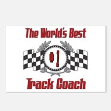 Racing Track Coach Postcards (Package of 8)