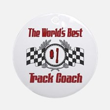 Racing Track Coach Ornament (Round)