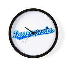 Retro Pascagoula (Blue) Wall Clock