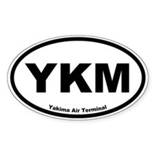 Yakima Air Terminal Oval Decal