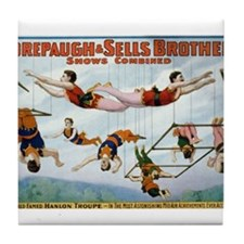 Trapeze Artists Tile Coaster