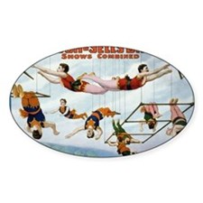 Trapeze Artists Oval Decal