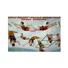 Trapeze Artists Rectangle Magnet