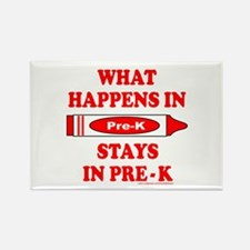 WHAT HAPPENS IN PRE-K Rectangle Magnet (10 pack)