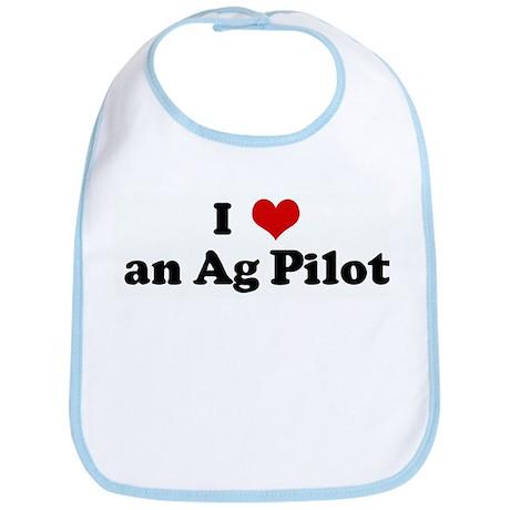 I Love an Ag Pilot Bib