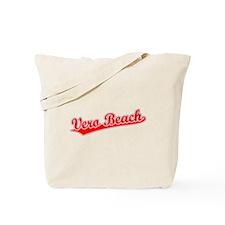 Retro Vero Beach (Red) Tote Bag