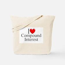 """I Love (Heart) Compound Interest"" Tote Bag"