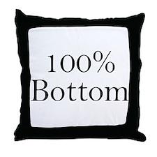 100% Bottom Throw Pillow