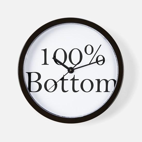100% Bottom Wall Clock