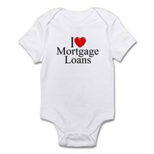 """I Love (Heart) Mortgage Loans"" Infant Bodysuit"