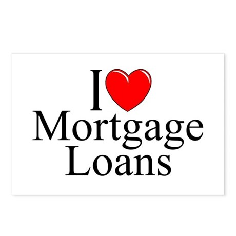 """I Love (Heart) Mortgage Loans"" Postcards (Package"