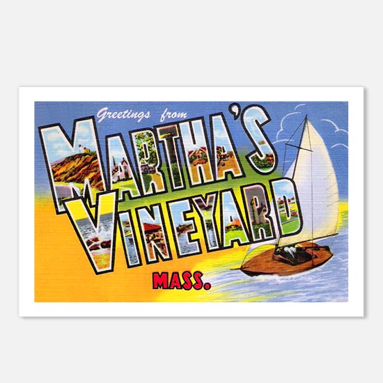 Martha's Vineyard Cape Cod Postcards (Package of 8