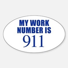 911 Oval Decal
