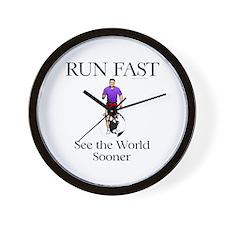 TOP Run Fast Wall Clock